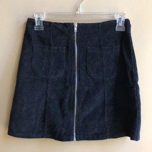 Corduroy Black Skirt